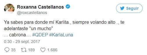 Así se despiden los famosos de Karla Luna