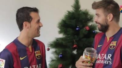 Los integrantes del Barcelona participaron en un divertido video.