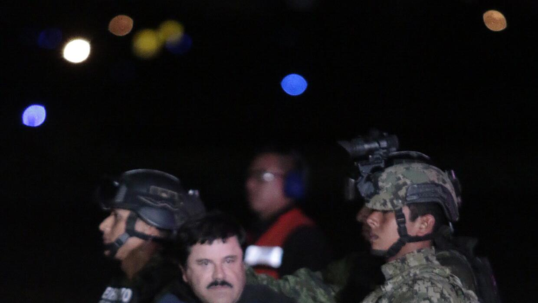 """Traslado de """"El Chapo""""."""