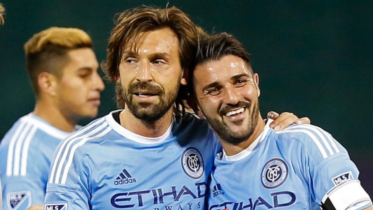 David Villa y Andrea Pirlo, New York City FC