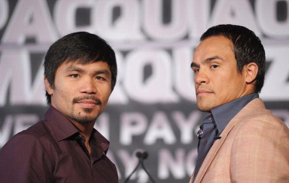 Manny Pacquiao y Juan Manuel Márquez llegaron a Nueva York para continua...