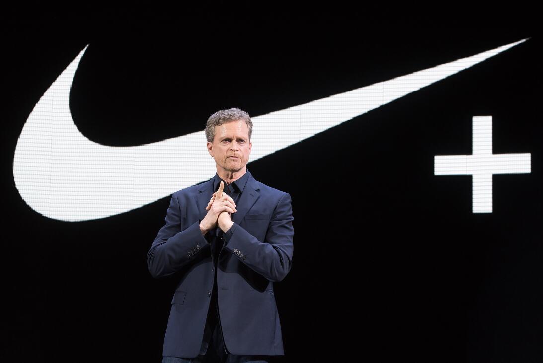 El presidente de Nike, Mike Parker, durante un evento de la compañía en...