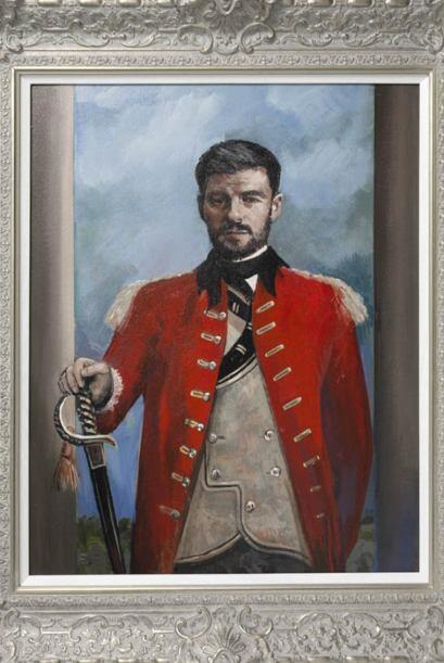 Steven Gerrard al estilo del 'General John Burgoyne' de Joshua Reynolds.