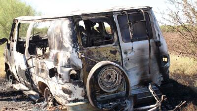 Camioneta incendiada propiedad de australiano desaparecido