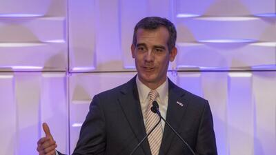 El alcalde de Los Angeles, Eric Garcetti.