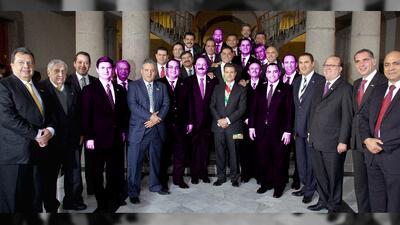 Gobernadores que acompañaron a Enrique Peña Nieto en su toma de posesión...