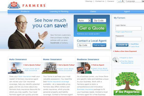 7. FARMERS INSURANCE GROUP   Sector de la industria: Seguros.  Ejemplos...