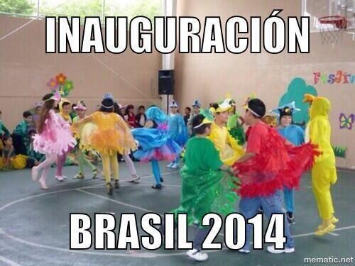 Como festival escolar... Todo sobre el Mundial de Brasil 2014.