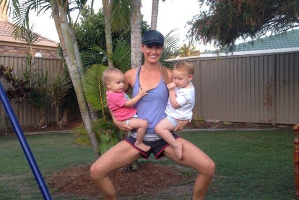 Kimberley Welman es una mamá que encontró en el ejercicio la mejor maner...