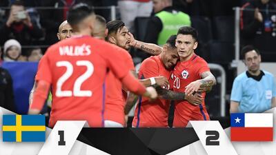 Buen augurio para el Tri, Chile vence a Suecia de visita