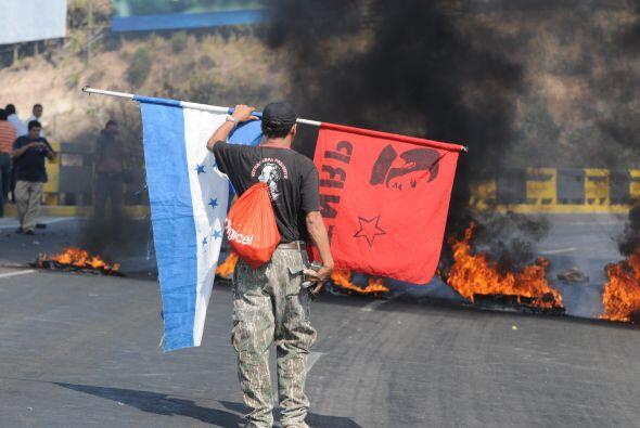 La protesta se hizo llamar 'paro cívico nacional' en la capital del país...