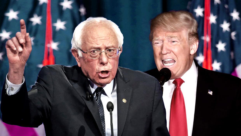 Bernie Sanders y Donald Trump.