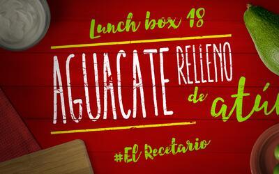 Aguacate relleno de atún + chips de maíz (Día 18) - 23 ideas para lunch...