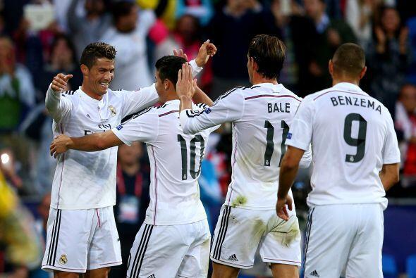 Cristiano, Benzema y Bale marcan el 72% de los goles del Real Madrid en...