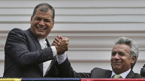 Las diferencias entre el expresidente Rafael Correa, a la izquierda, y s...