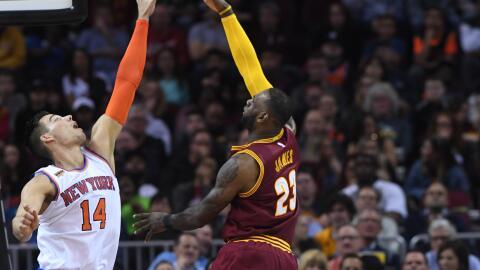 LeBron James registró el 48º doble triple en su carrera.