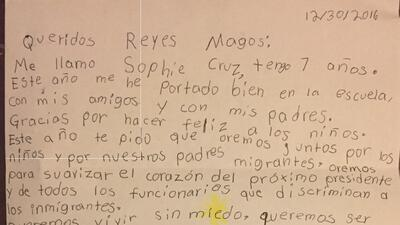Niños abogan por los migrantes en cartas a los Reyes Magos