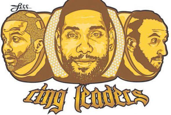 Tony Parker, Tim Duncan y Manu Ginóbili son 'Ring Leadres'.