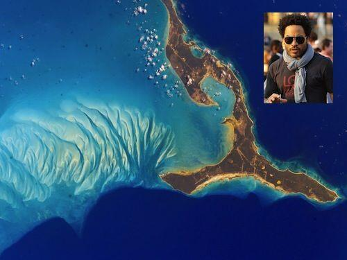 El cantante Lenny Kravitz es de nacionalidad mitad Bahammas por eso deci...