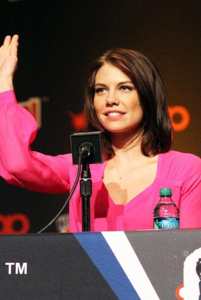 Saludando a los fans en la New York Comic Con en el otoño de 2013...