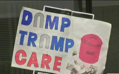 El nuevo programa de salud planteado por republicanos fue objeto de prot...