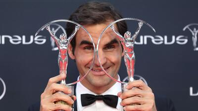 Federer ganó el premio Laureus al Mejor Deportista del Año por quinta vez