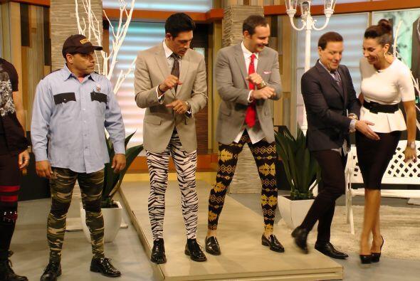 Los presentadores dijeron sentirse muy cómodos en ''meggings''.&n...