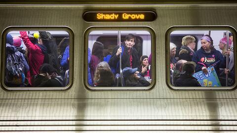 El sistema de metro de Washington es el tercero más usado en todo...