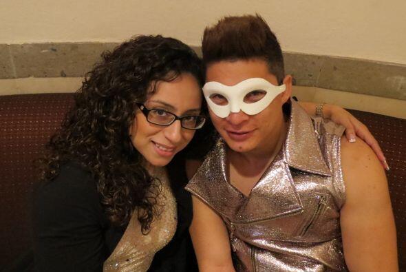 Danny Montejo con Michelle Lardiere, en los ensayos de la tercera gala.