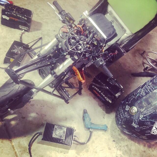 Moto eléctrica modificada de Terry Hershner