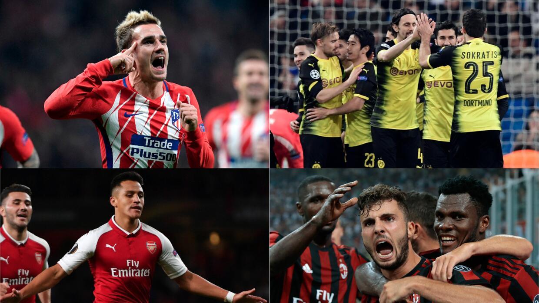 Resultados de los octavos de final de la Europa League 2017/2018 europa-...