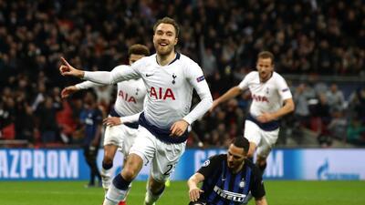 En fotos: Con gol tardío el Tottenham vence al Inter por el Grupo B de la Champions League