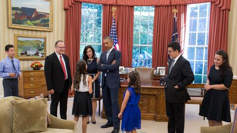 Teresa Chaurand and family at the White House.