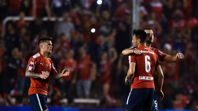 Independiente venció a Flamengo en la final de ida de la Copa Sudamericana