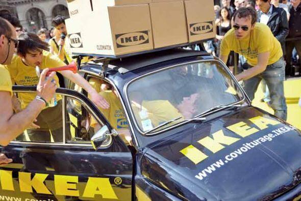 El intento fue patrocinado por la firma sueca Ikea como parte de la sema...
