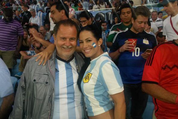 Alba Galindo, la senadora de República Deportiva, estuvo ahí para acompa...