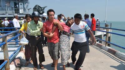 Al menos 60 muertos en un naufragio en Birmania