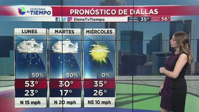 Dallas se prepara para un frente frío y algunas precipitaciones