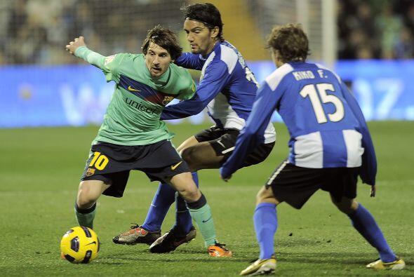 Messi pidió la pelota y no se escondió, le hicieron doble...