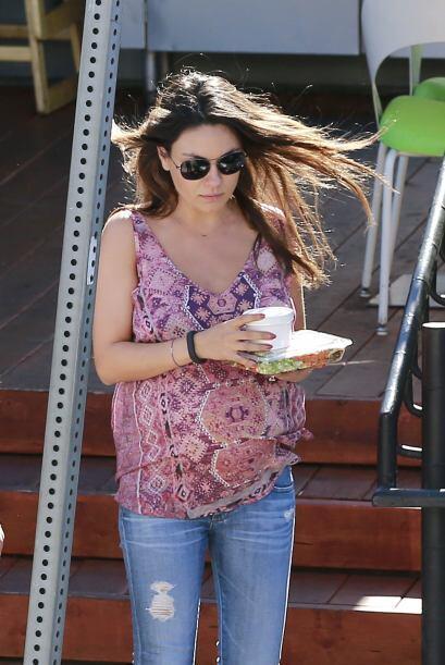 La bella actriz, de 30 años, sigue disfrutando de su embarazo y t...
