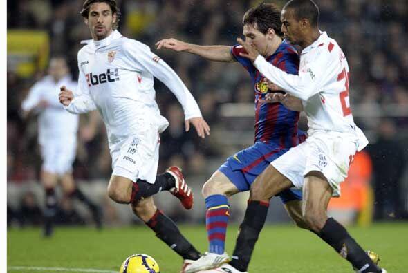 El Barcelona jugó por tercera vez seguida contra el Sevilla, su verdugo...