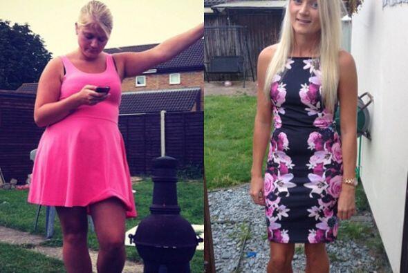 Ella comparte la comparación de cuando tenía sobre peso y de como luce a...