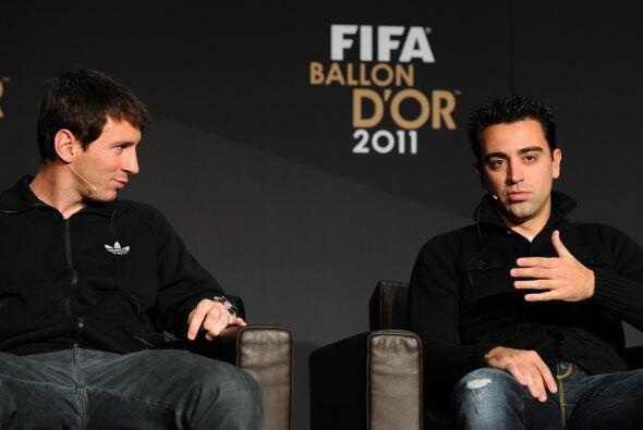Bueno, no todos estuvieron, aquí vemos a Lionel Messi y Xavi, nom...