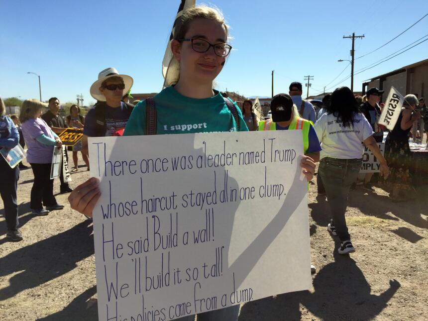 """Tucson, Arizona.- """"Estoy aquí porque me interesan los derechos de los in..."""