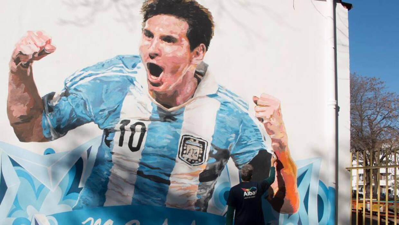 Le realizaron un mural a Messi