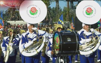La banda Águilas Doradas puso ritmo mexicano al Desfile de las Rosas