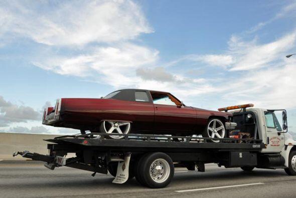 Pero este Cadillac, arreglado como 'low rider' está más vivo que nunca.