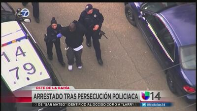Detienen a un sospechoso después de una persecución a alta velocidad en...