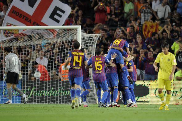 Messi fue el autor del cuarto gol de su equipo.