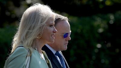 Tanto Kellyanne Conway, asistente del presidente, como Sean Spicer, secr...